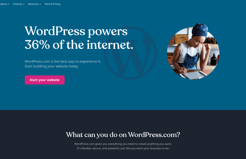 wordpress.com screenshot