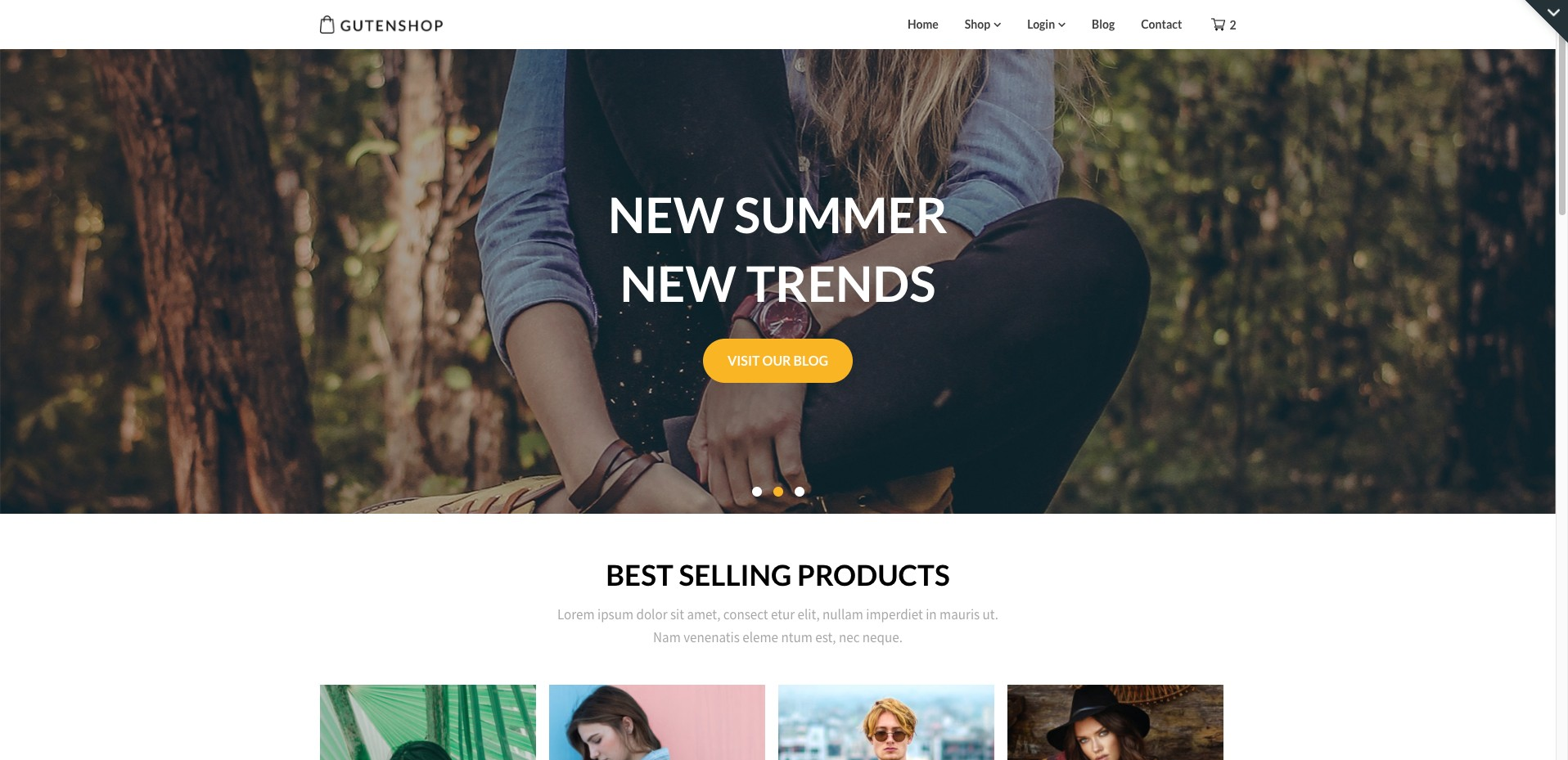 Superb Themes Gutenshop WordPress Theme Screenshot